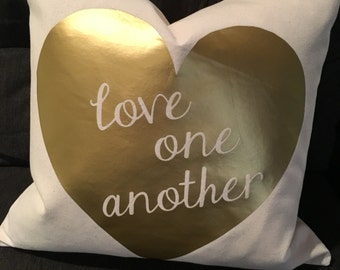 Love One Another Down Feather Pillow