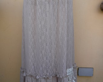 "lagenlook bohemian slip extender with pixie hem.....26"" to 44"" waist or hip......."