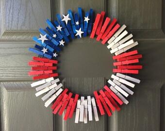 """12"""" Flag Wreath"""