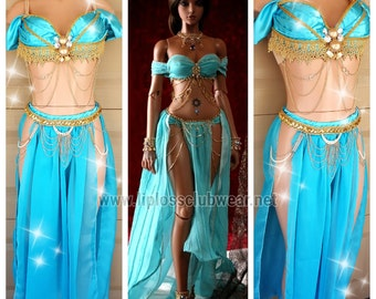 Jasmine Princess Costume, Egyptian Princess Costume, Princess Costume, Jasmine Costume, Sexy Women Costume, Sexy Princess Costume,