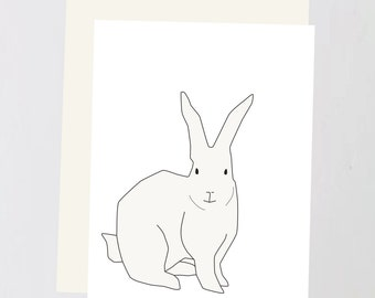 Rabbit print Greeting Card