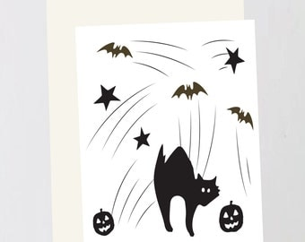 Halloween scene Greeting Card