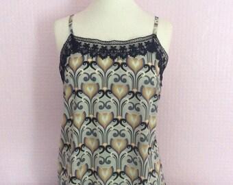 Vintage Art deco camisole with lace trim