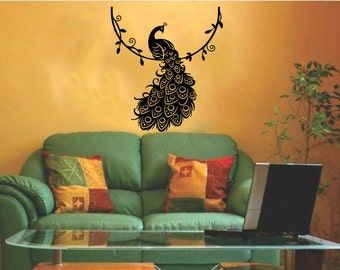 Charming Peacock Wall Decals Animal Wall Decal Wall Sticker Wall Decor Part 26