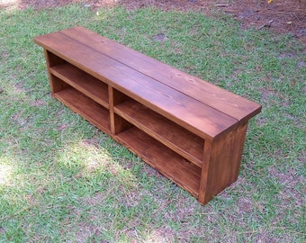 Rustic Shoe Bench, Mudroom Bench, Storage Bench, Boot Bench, Entryway Bench, Boot Bench