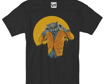 Funny Wolf Thriller Men's T-Shirt (SB932)