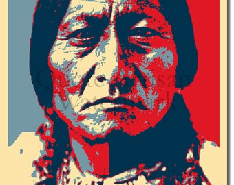 Sitting Bull Original Art Print - Photo Poster Gift
