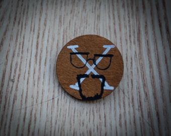 Malcolm X Face Pin