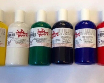 6 x Fabric Paint 150ml