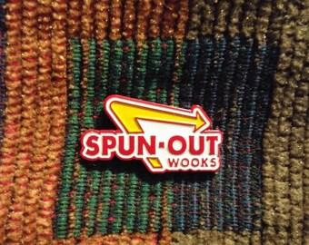 Spun Out Wooks Hippie LSD Acid Spunion EDM Festival Lapel Hat Pin