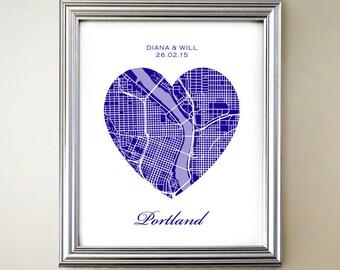 Portland Heart Map
