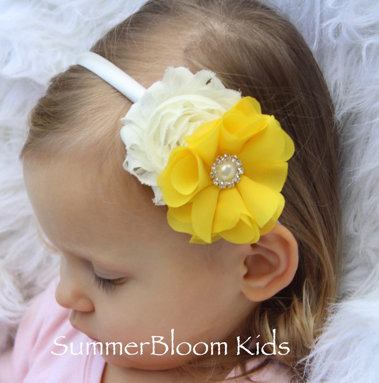 Yellow Headband Toddler Easter Headbands Yellow Flower Girl