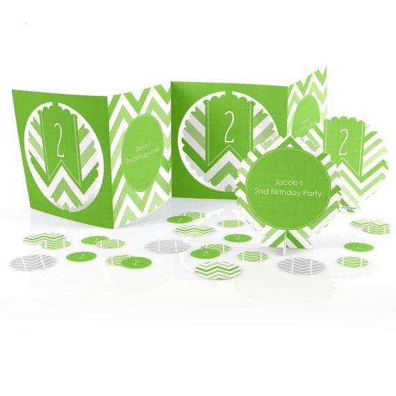 Chevron green centerpiece kit piece custom decoration