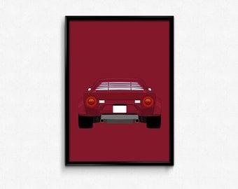 Lancia Stratos A3 Print