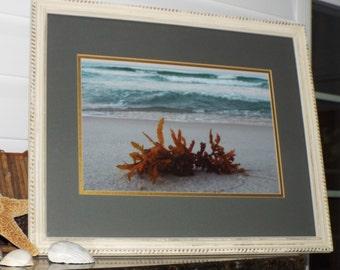 18 x 24 framed beach photography sunrise photography distressed frames home decor panama city beach beach house shabby chic coastal