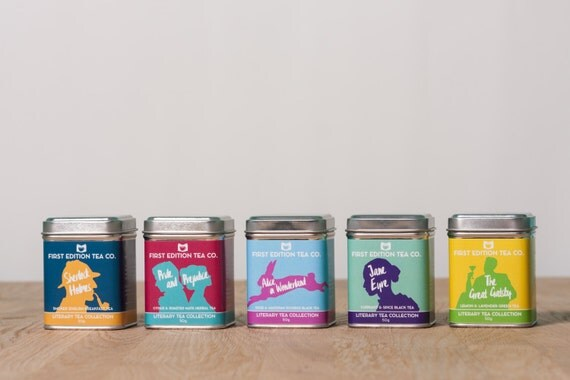 The Literary Tea Collection - Loose Leaf Tea - Gift for Book Lover - 5 x 50g tins