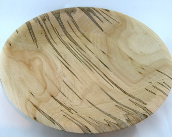 Fruit plate or service made from Ambrosia Maple apprx. 16 in. x 2 1/2 in. item number:318