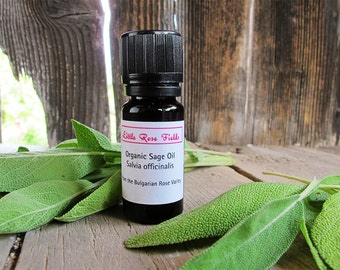 Organic Sage Essential Oil - Salvia Officinalis - steam distilled - from the Bulgarian Rose Valley