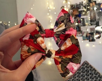 Agusto Rose Bows - Ruby Pink and Peach
