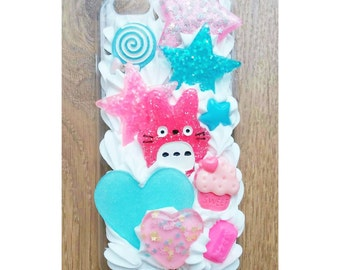 Pink and Blue Totoro Pretty Kawaii iPhone 6 Case