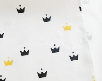 Laminated Modern and Cute Style Tiara Pattern Cotton Fabric by Yard