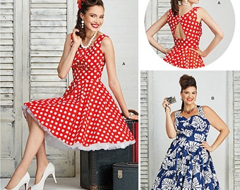 Misses and Plus Size Dresses Simplicity Pattern 8051