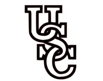 Interlocking USC Decal