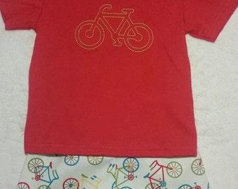 Custom Bike Short Set with Coordinating Bike Tee Shirt