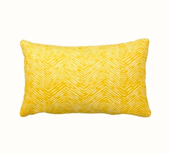 Standard Throw Pillow Cover Sizes : 7 Sizes Available: Yellow Throw Pillow Cover by ReedFeatherStraw