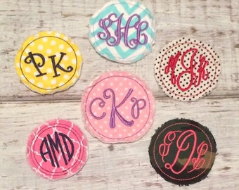 Custom Personalized Raggy Iron On Patch Name Initials Monogrammed Girls Teens Ladies