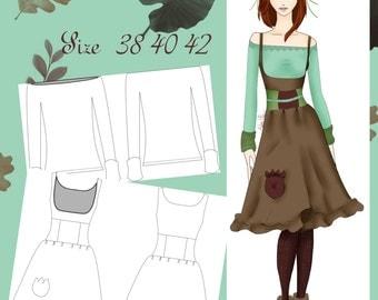 Vanilla outfit pattern size 38/40/42 Espanish English