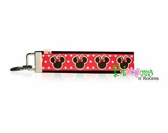 Wrist keychain Minnie Mouse