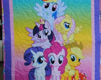 My Little Pony Quilt Toddler Baby Blanket FREE SHIPPING!