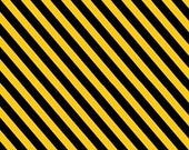 Tonka Black and Yellow Construction Stripe - 1 yard - Quilting Treasures