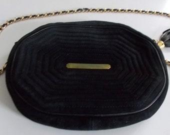 Vintage 80's Suede Leather Valentino Shoulder Strap Purse