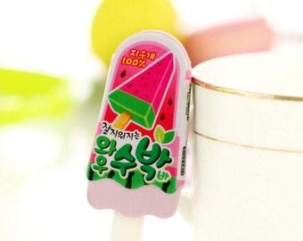 Pink Cute Popsicle Eraser