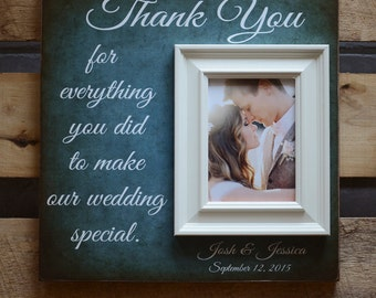 Parents of the Bride Gift, Parents of the Groom Gift, Parent Thank You Gift, Mother of the Bride, Father of the Bride, All That We Are 16x16