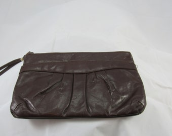 brown leather purse vintage