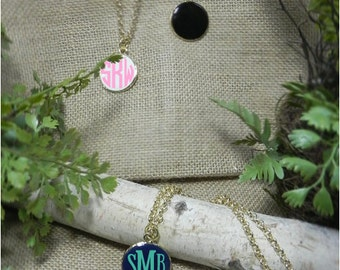 Personalized Enamel Pendant Necklace