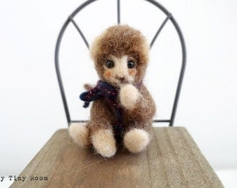 Felted Monkey , Needle Felted Monkey, Felt Animal, Felt Monkey, Mokey, Cute Monkey, Needle Felted Animal