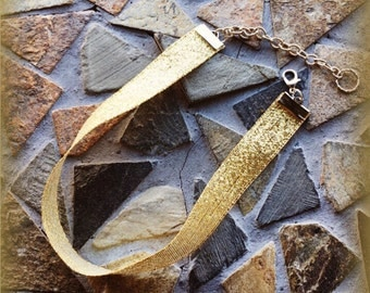 Gold Glitz and Glitter Adjustable Choker: Childrens/Adults/Mommy and Me