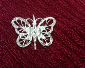 Vintage Sterling Silver Butterfly Pendandt