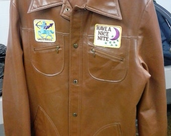 Hipster pleather jacket XL