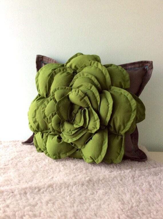 Succulent Pillow  Succulent Decor, Nature Inspired Pillow, Succulent Pillow Garden, Fiber Art Pillow