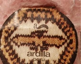 Ardilla Peru Acrylic, Mohair and Wool Blend yarn 2 fI'll skeins in pretty baby girl pink