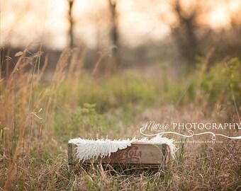 Instant Download newborn digital backdrop. Outdoor digital backdrop for newborn photography. Coca cola backdrop