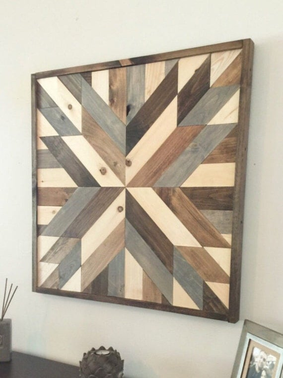 Reclaimed wood wall art rustic wall decor by NorthernOaksDec