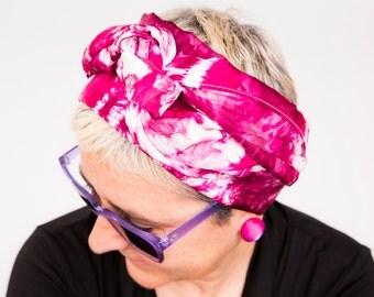 "Silk. Foulard dyeing. Shibori. Natural silk. Mother's Day.70'86""x23'62"" (180x60cms)"