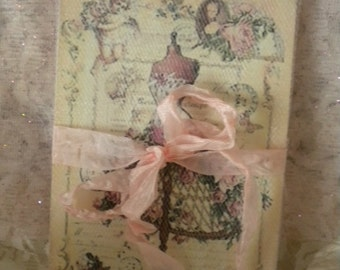 Shabby Vintage Paris Dress Form Note Cards Wrapped In Tulle (8)