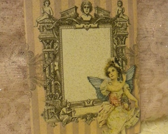 Shabby Chic / Victorian Envelope with Victorian Angel Note Card (4)